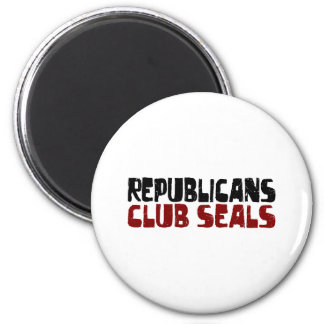 Republicans Club Seals 6 Cm Round Magnet
