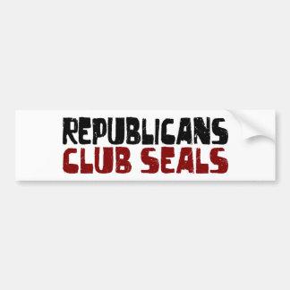 Republicans Club Seals Bumper Sticker