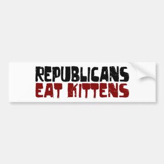 Republicans Eat Kittens Bumper Sticker