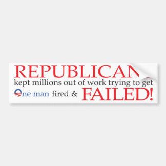 Republicans Failed! Bumper Sticker
