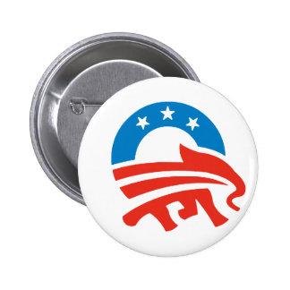 Republicans for Obama 6 Cm Round Badge