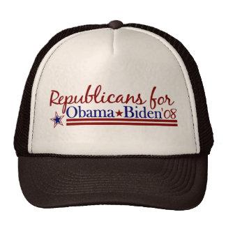 Republicans for Obama Biden Mesh Hat