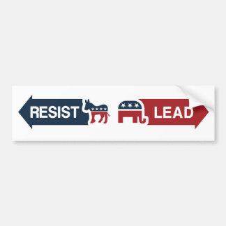 Republicans Lead, Democrats Resist Bumper Sticker