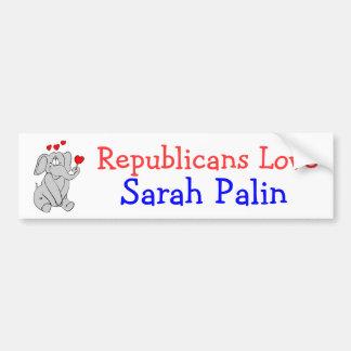 Republicans love Sarah Palin Bumper Sticker