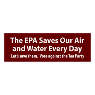 Republicans Want to Shut Down the EPA? Pack Of Skinny Business Cards