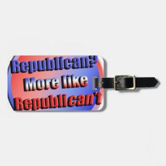 Republicant Luggage Tag