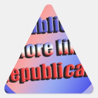 Republicant Triangle Sticker