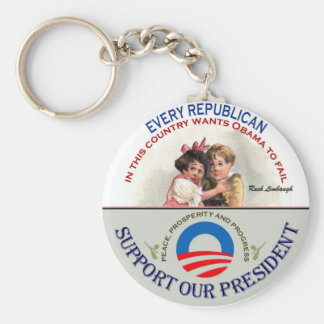 Republincans and Limbaugh Basic Round Button Key Ring
