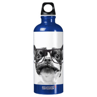 Reputable French Bulldog with Glasses SIGG Traveller 0.6L Water Bottle