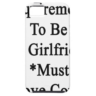 Requirements To Be My Girlfriend Must Love Cows Case For iPhone 5/5S