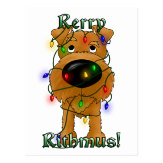 Rerry Rithmus - Irish Terrier Postcard