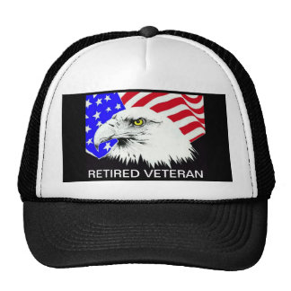 RERTIRED VETERAN HATS
