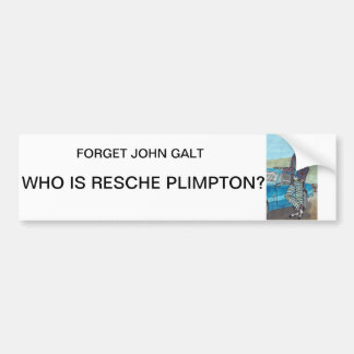 Resche Plimpton bumper sticker