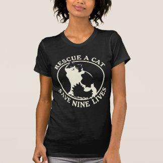 Rescue a Cat, Save Nine Lives T Shirt