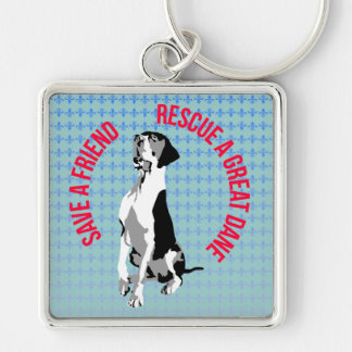 Rescue A great dane Key Ring