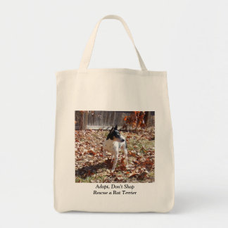 Rescue a Rat Terrier Tote Bag