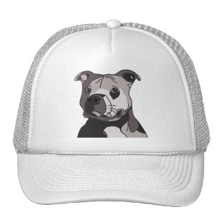 Rescue American Bulldog Pit Bull Terrier Portrait Cap