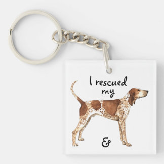 Rescue American English Coonhound Key Ring