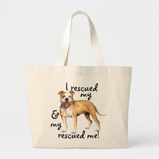 Rescue American Pit Bull Terrier Canvas Bags