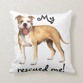 Rescue American Pit Bull Terrier Throw Pillows