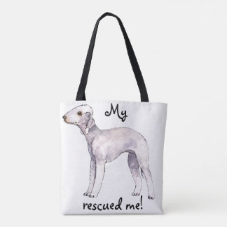 Rescue Bedlington Terrier Tote Bag