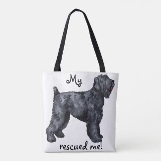 Rescue Black Russian Terrier Tote Bag