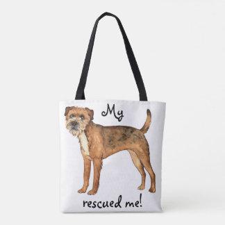 Rescue Border Terrier Tote Bag