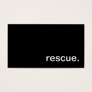 Rescue Business Card