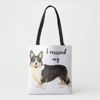Rescue Cardigan Welsh Corgi Tote Bag
