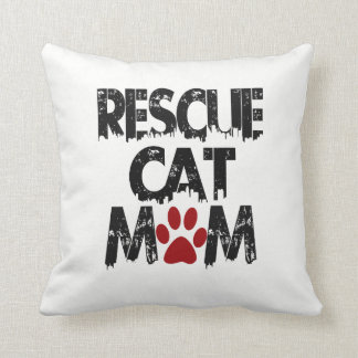 Rescue Cat Mom Cushion