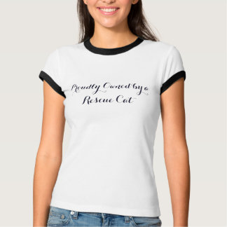 Rescue Cat(s) Ladies' Blue Ringer T-Shirt