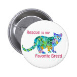Rescue Cats Colourful Pin