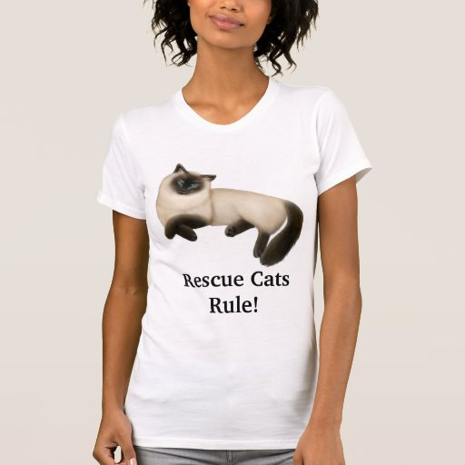 Rescue Cats Rule T-Shirt