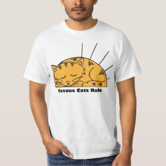 Rescue Cats Rule Tee
