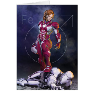 Rescue Defeating Superior Iron Man Card