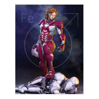 Rescue Defeating Superior Iron Man Postcard