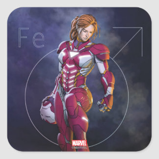 Rescue Defeating Superior Iron Man Square Sticker