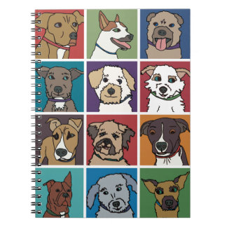 Rescue Dog Cartoon Spiral Notebook