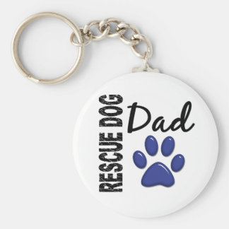 Rescue Dog Dad 2 Basic Round Button Key Ring