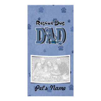 Rescue Dog DAD Photo Greeting Card