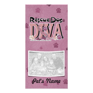 Rescue Dog DIVA Personalized Photo Card
