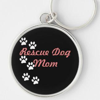 Rescue Dog Mom Key Ring