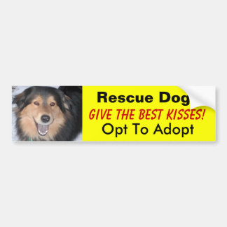 Rescue Dogs Give the Best Kisses Bumper Stickers