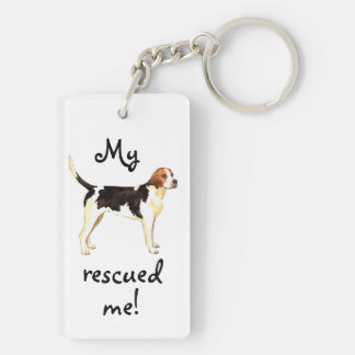 Rescue English Foxhound Key Ring