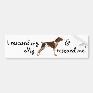 Rescue German Shorthaired Pointer Bumper Sticker