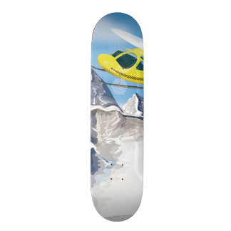 Rescue Helicopter 21.6 Cm Skateboard Deck