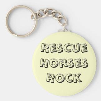 Rescue Horses Rock Keyring