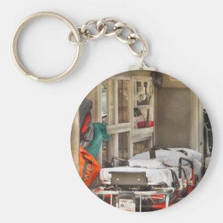 Rescue - Inside the Ambulance Basic Round Button Key Ring