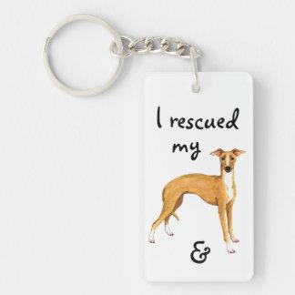 Rescue Italian Greyhound Key Ring