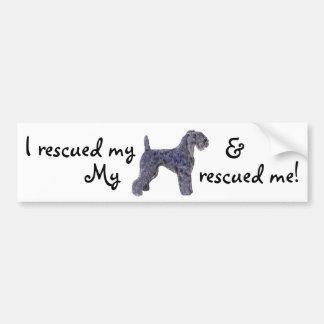 Rescue Kerry Blue Bumper Sticker